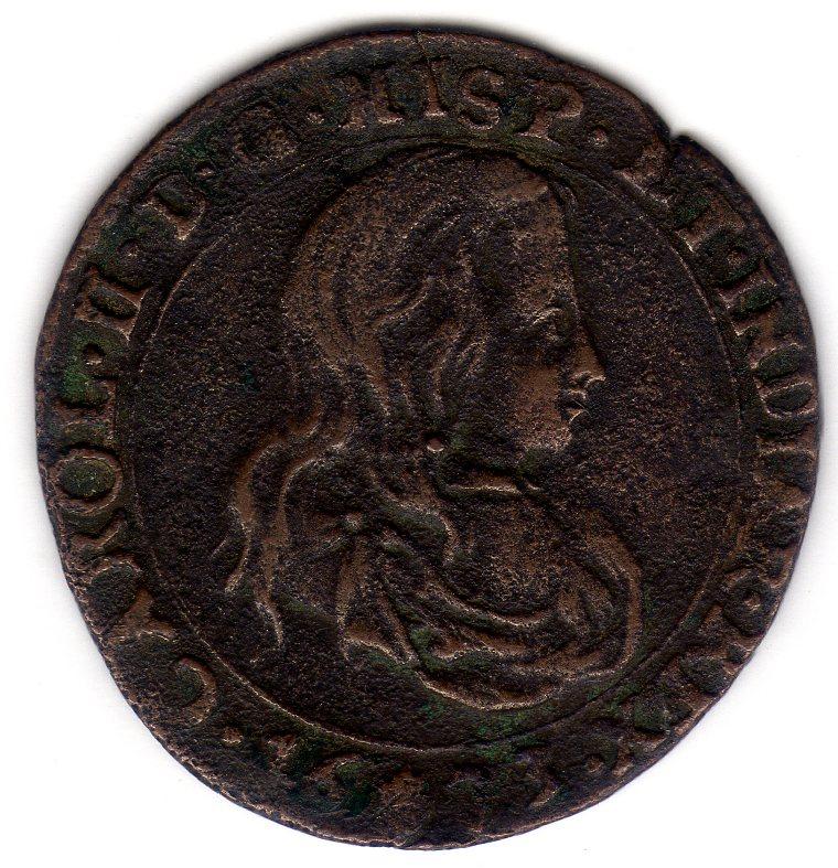 Jetón de Carlos II. 1673. Amberes. Declaración de guerra a Francia Img525