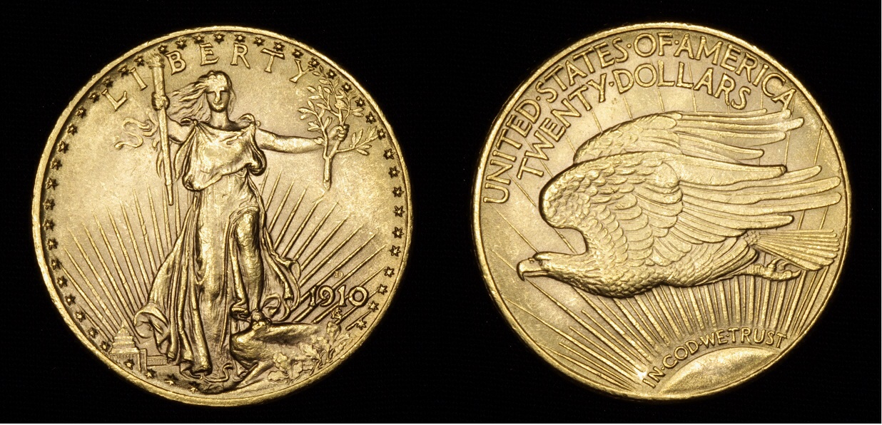 20 dolares 1910 Saint Gaudens Image