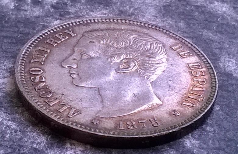 5 pesetas 1875, Alfonso XII WP_20150117_055