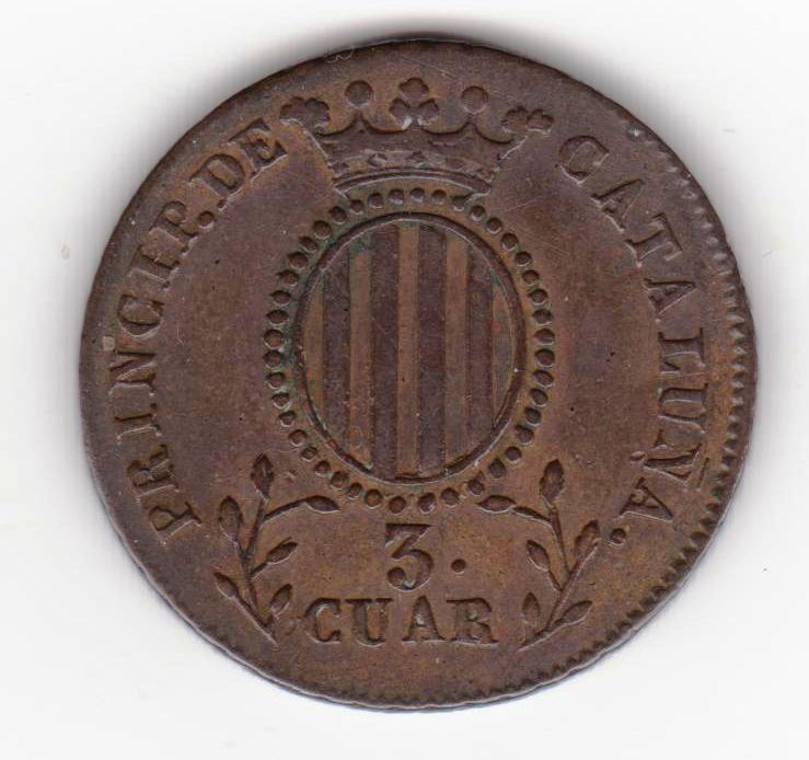 3 cuartos 1838, Isabel II. Principado de Cataluña 3_cuartos_1838_001