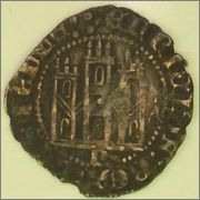 """Dinero """"novén"""" de Enrique III. (1390-1406). Burgos. 77824669"""