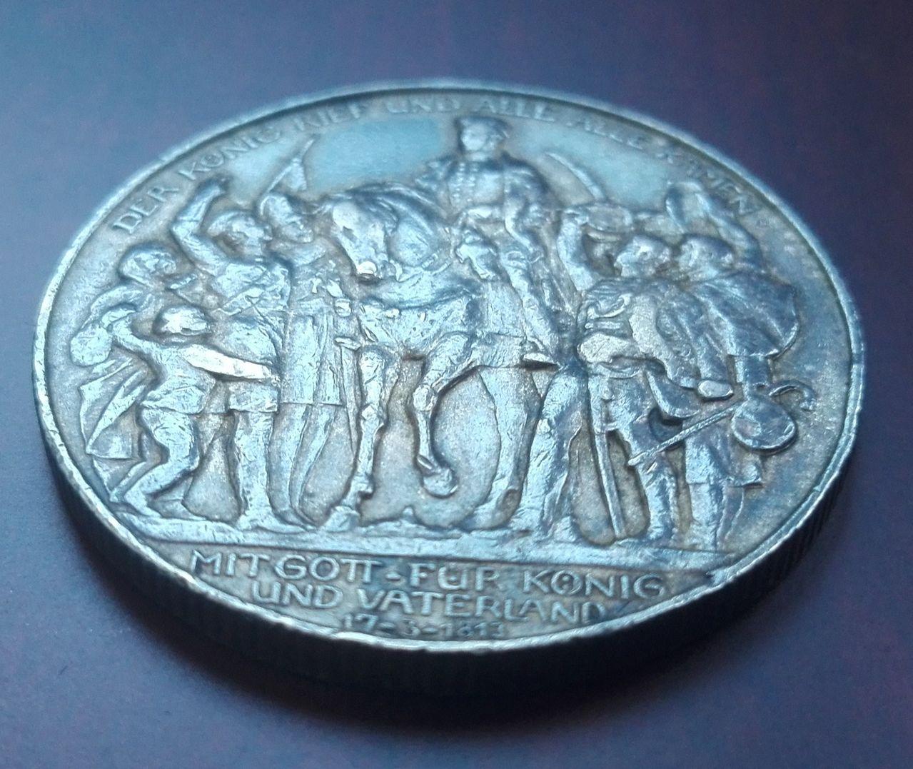 2 marcos 1913, Guillermo II. Prusia. Alemania 3_marcos_1913_rev