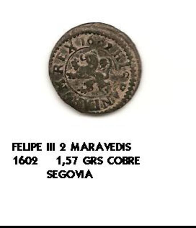 2 maravedís de Felipe III 1602 Image