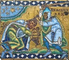 Dracma de Cosroes II Jerusalen614