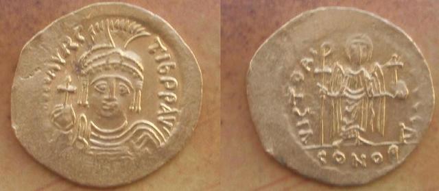 Denominación de las monedas de Bizancio. 1ª parte 0solidomauriciotib