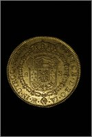 8 Escudos 1772. Carlos III. Santa Fe de Nuevo Reino. (Dedicado a Patricia). Image