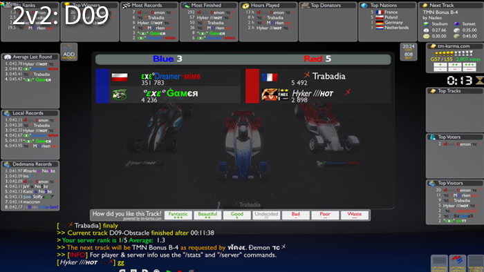 Group 1 - Match 1 - EXE vs. TC 2v2