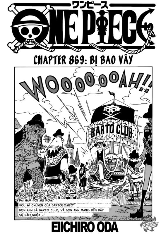 One Piece Chapter 869: Bị bao vây Image