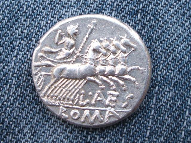 Denario republicano gens Antestia. L AES / ROMA 052