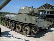 """Советский средний танк Т-34, завод № 183, III квартал 1942 года, музей """"Линия Сталина"""", Псковская область 34_183_001"""