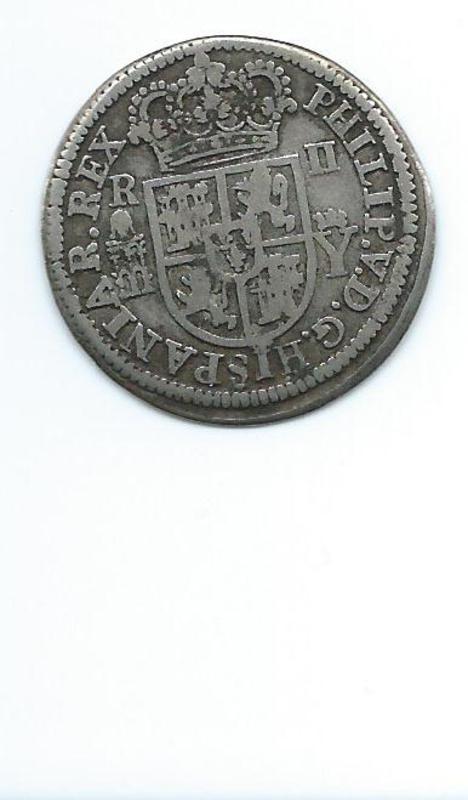 2 reales 1708. Felipe V. Segovia Image