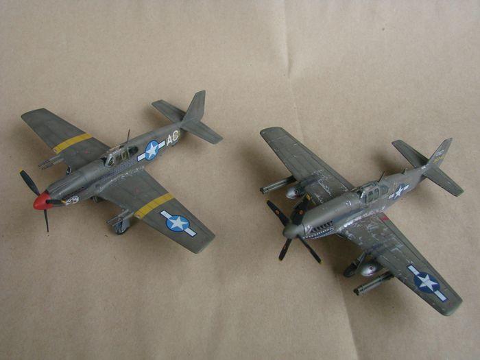 P-51 Mustang, Academy i P-51B Mustang (rebuild) Revell, 1/72 DSC02592