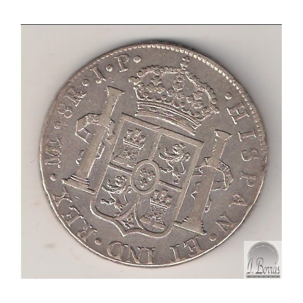 8 reales 1819 FERNANDO VII Lima JP Fernando_2