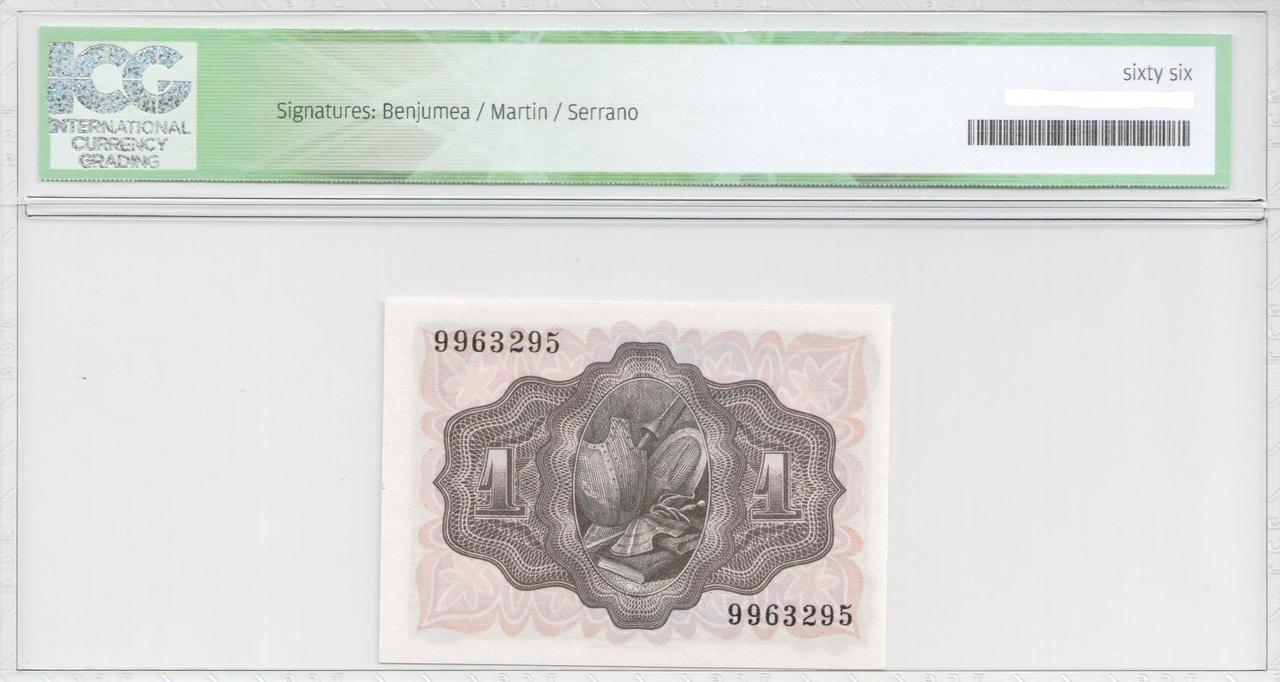 Colección de billetes españoles, sin serie o serie A de Sefcor 51_reverso