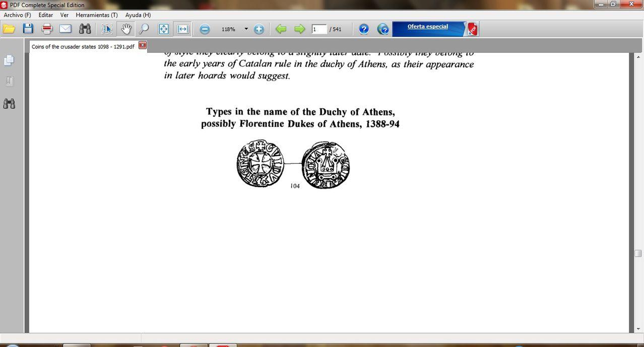 Dinero de los almogávares (1311-1388) o los duques florentinos (1388-1394) del ducado de Atenas  - Página 2 Image