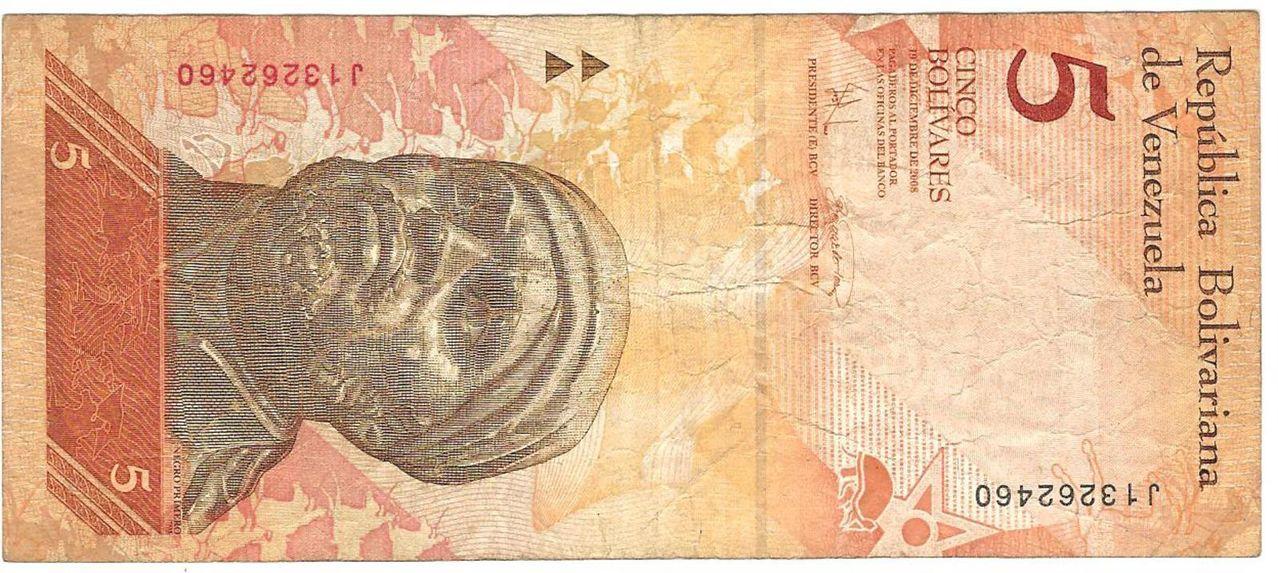 5 Bolívares Venezuela, 2008 Image