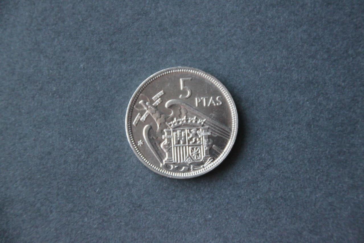 5 pesetas 1957 *74 Reverso