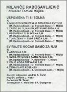 Milance Radosavljevic - Diskografija Milance_Radosavljevic_1988_kz