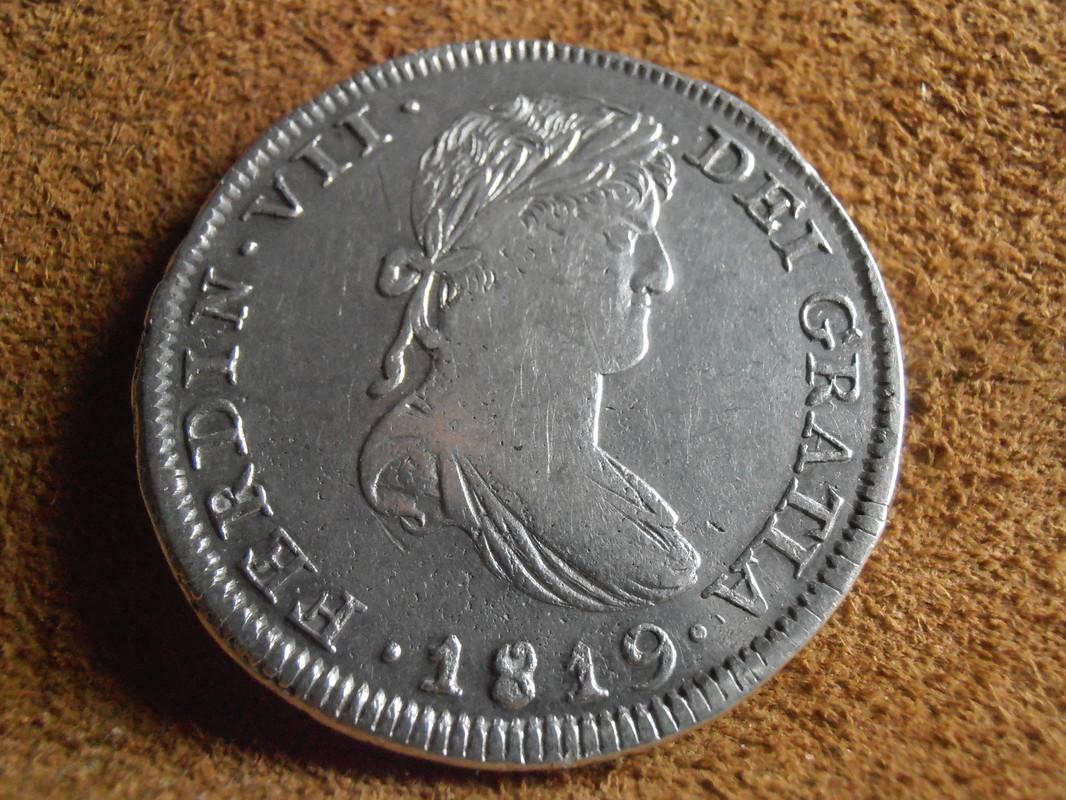 8 Reales 1819. Fernando VII. Zacatecas AG P5050018
