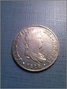 2 reales 1828 Fernando VII,Sevilla,JB CAM00812