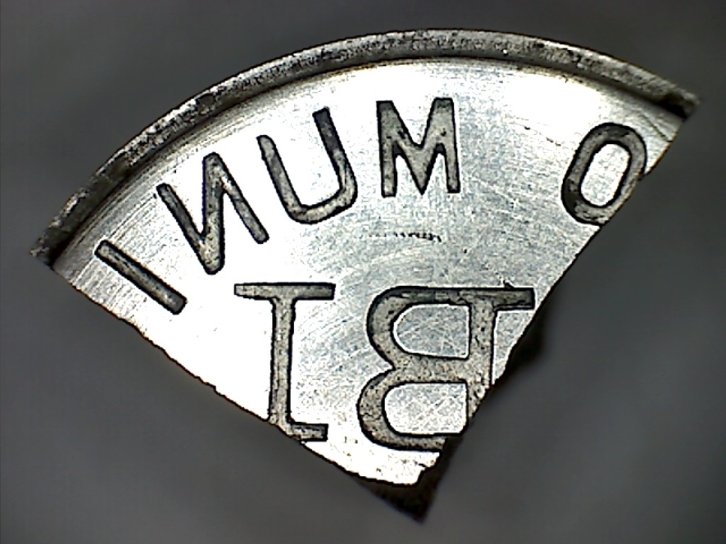 Fragmento de troquel usado para acuñar los 25 céntimos de Ibi 29_copia