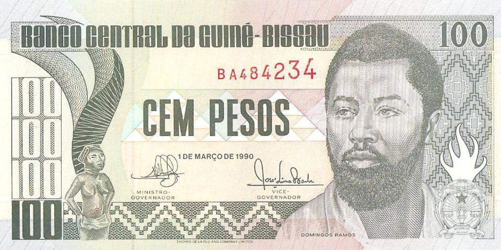 100 pesos Guinea - Biisau año 1990 Image