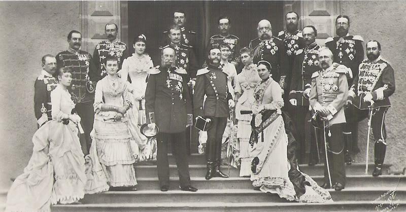 5 pesetas Alfonso XII 1883 German_Shooting_Party_1