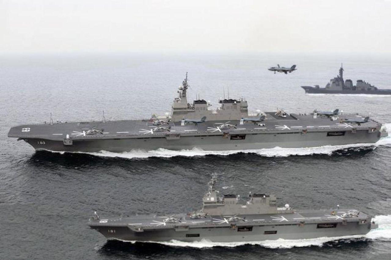 Japon establece como estrategia similar a China, limitar acceso a zonas aereas/maritimas territoriales Izumo_hyuga2