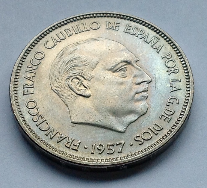 25 pesetas 1957 (*70) Estado Español Image