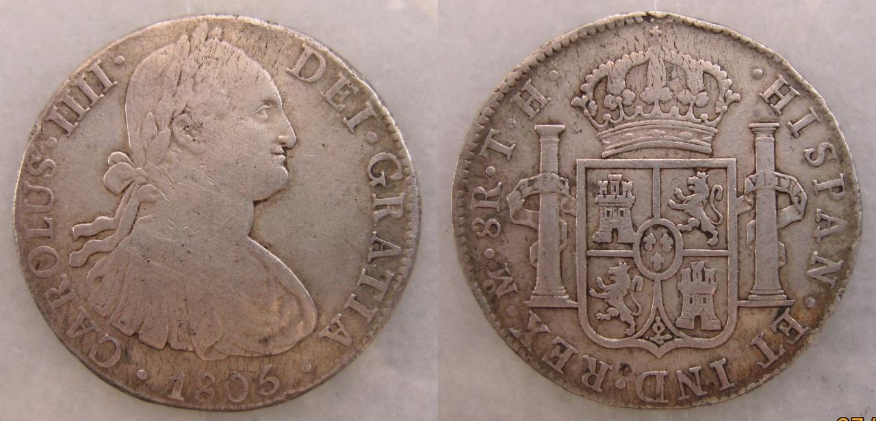 8 Reales 1805 TH. Carlos IIII. México. 8_reales_1805_M_xico_Carlos_IV