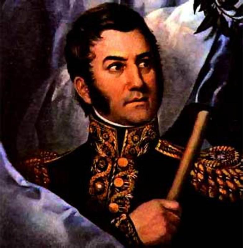1 Real 1819 Fernando VII- Lima -(Moneda Perforada)  JOSE_DE_SAN_MARTIN