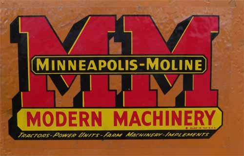 MINNEAPOLIS-MOLINE  Tractors --   USA Lotgo_MM