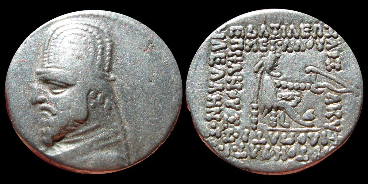 Dracma de Orodes I. 143