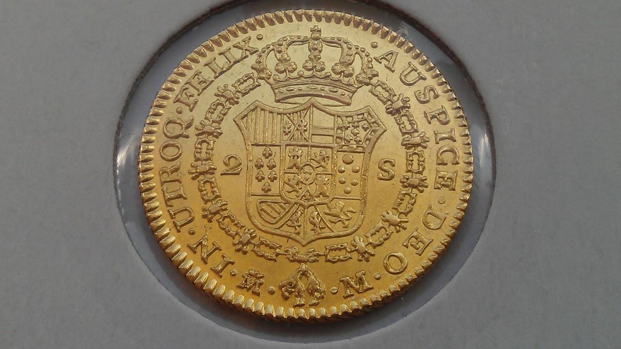 2  escudos 1788/1. Carlos III. Madrid. IMAG0560