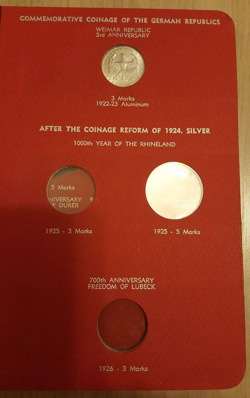 Monedas Conmemorativas de la Republica de Weimar y la Rep. Federal de Alemania 1919-1957 20170406_082229