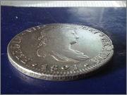 Moneda de plata de España, reinado de Fernando VII, valor facial 8 reales (26,83gr), emisión 1821, ceca MEJICO, ensayadores JJ. 20140122_134456