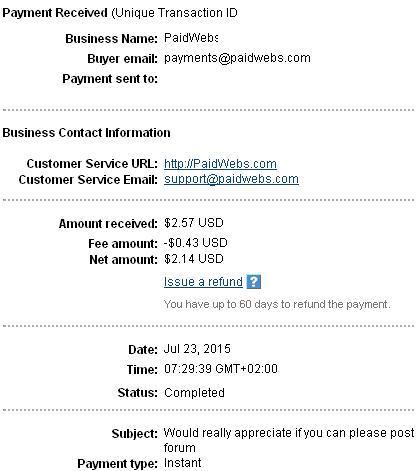 Paidwebs - paidwebs.com Paidwebspayment