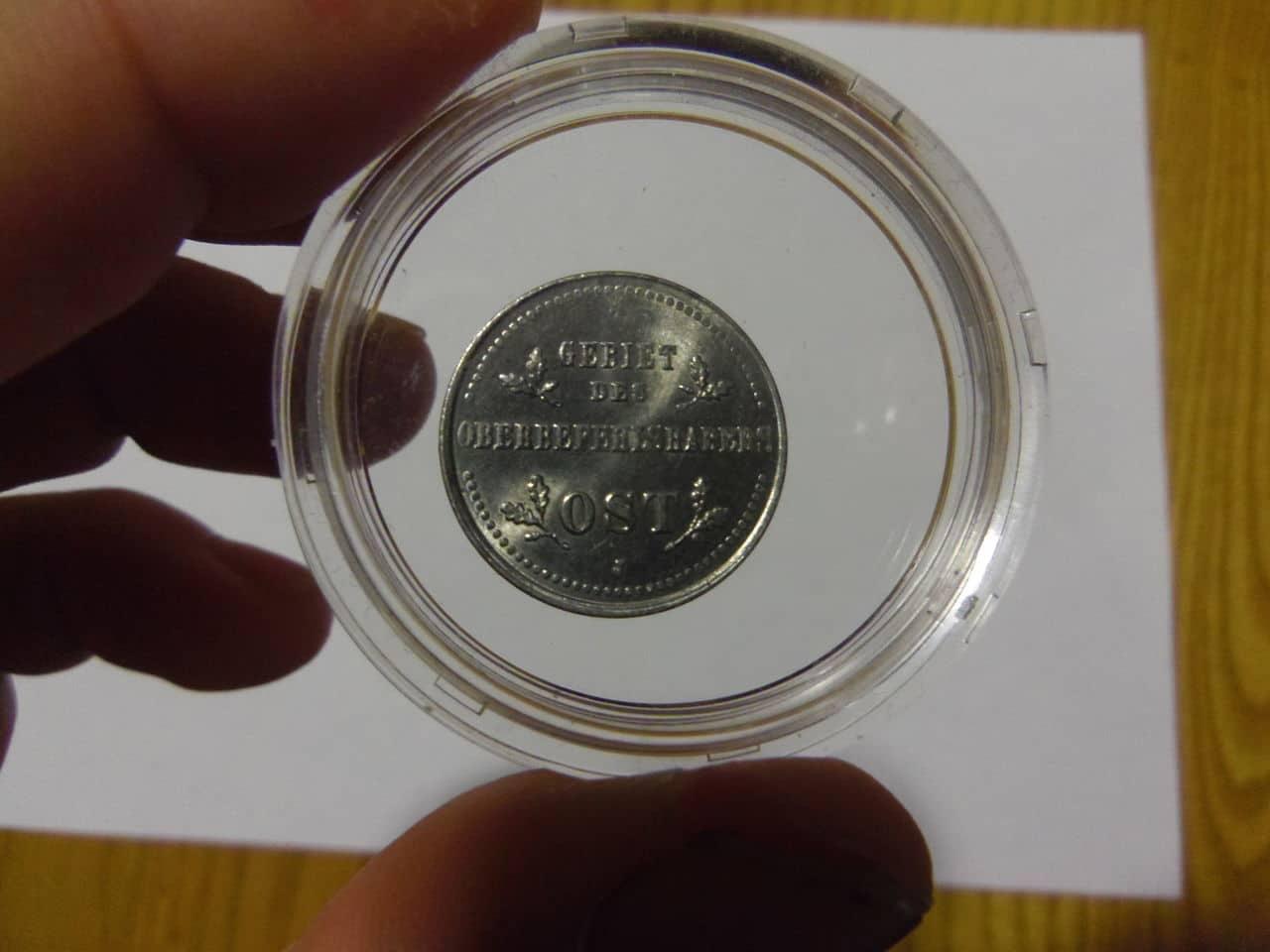 Moneda Alemana (con cruz de hierro) 1 kopek Acuñada en 1916 para Rusia ocupada. KOPEK_ALEMAN_1916_REVERSO