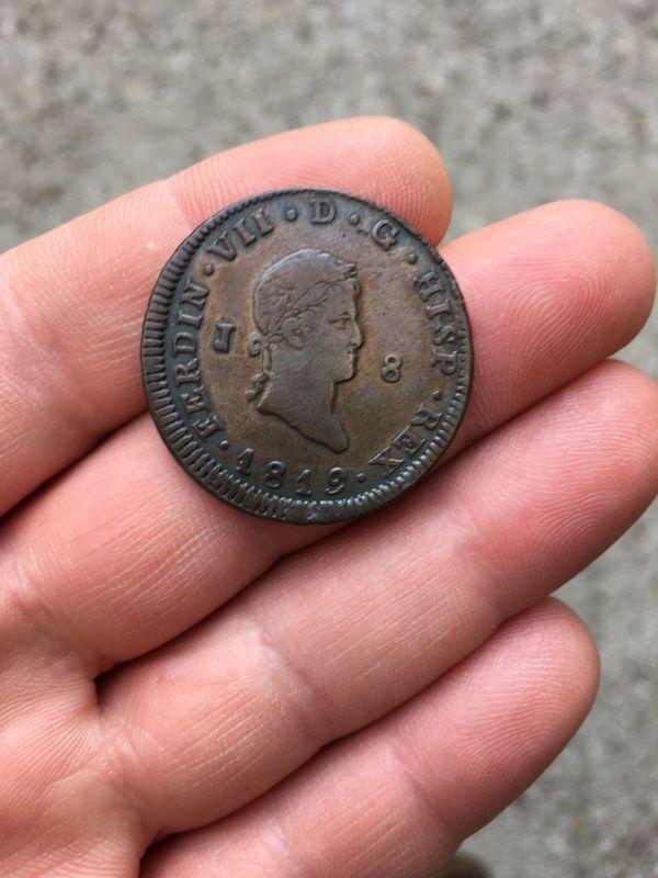 8 maravedíes 1819. Fernando VII. Jubia Image