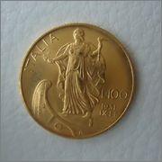 100 Lire 1931 IX VITTORIO EMANUELE III ,ITALIA Image