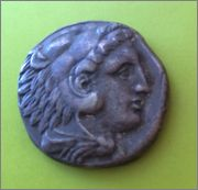 Tetradracma de Alejandro III de Macedonia. AΛEXANΔPOY. Griega_1
