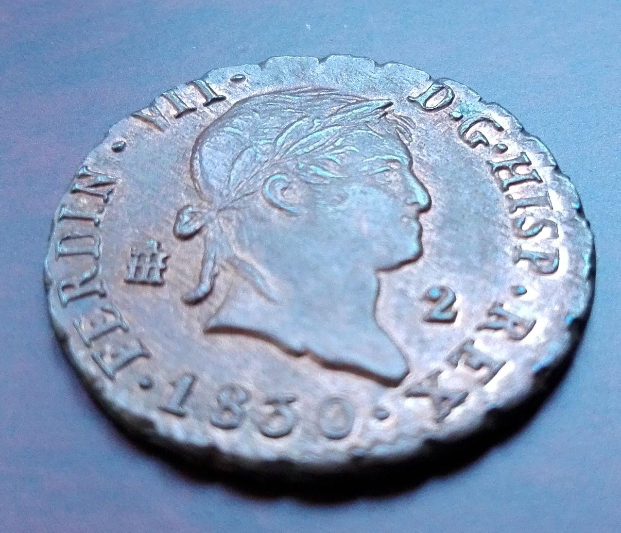2 maravedís 1830, Segovia. Fernando VII 2_maravedis_1830_2