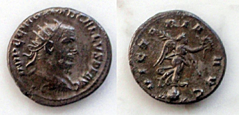 Antoniniano de Treboniano Galo. Galo