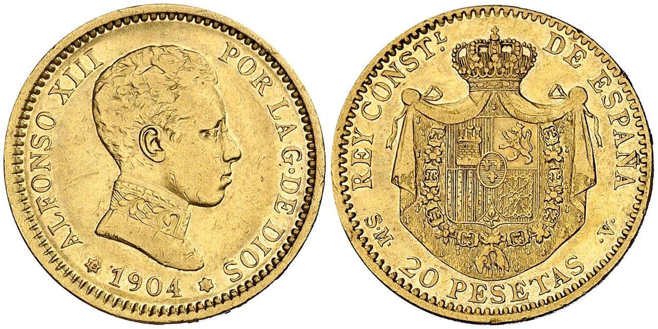 20 pesetas 1904. Alfonso XIII  2984073l