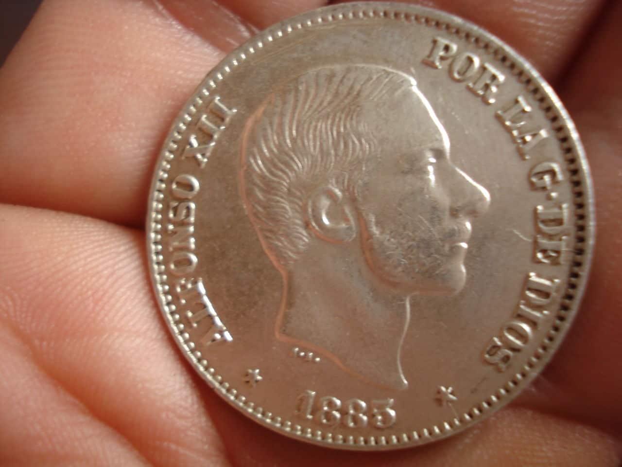 50 Centavos de Peso 1885 Alfonso XII Filipinas DSC02417