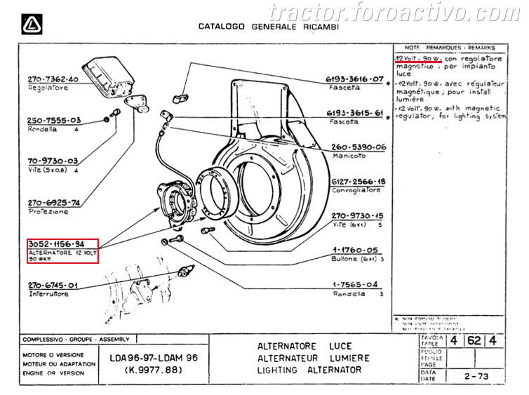 [Agria 1900 ED20] Cables plato magnetico Estator_lombardini_LDA96