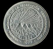 1894 guatemala - Monedas de 8 reales, pesos y quetzal de Guatemala, desde la Independencia Anverso_25_Colones_El_Salvador_1.977