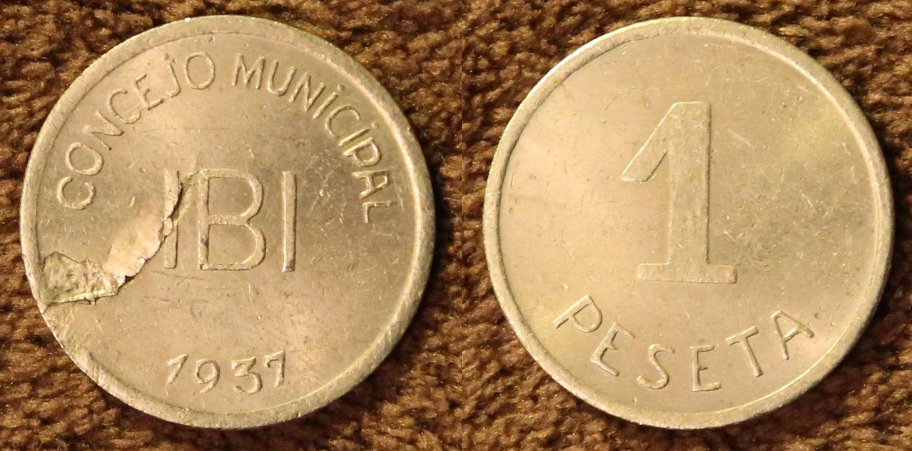 Pruebas de las monedas de 1 peseta de Ibi en níquel Peseta_de_Roblan