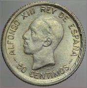 50 CÉNTIMOS 1926. ALFONSO XIII. DEDICADA A ESTRELLA 76 Image