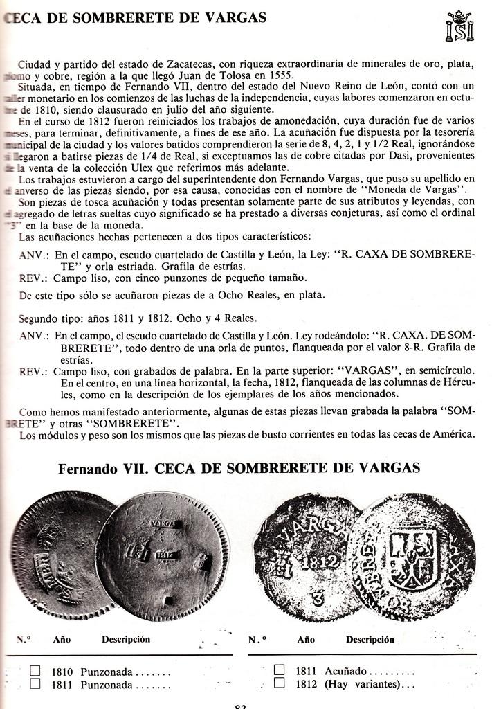 8 REALES VARGAS 1812. SOMBRERETE. FERNANDO VII. MÉXICO. ( dedicada a javi por su buen hacer y buen amigo ). Image